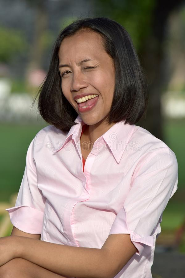 Filipina Female Winking imagens de stock