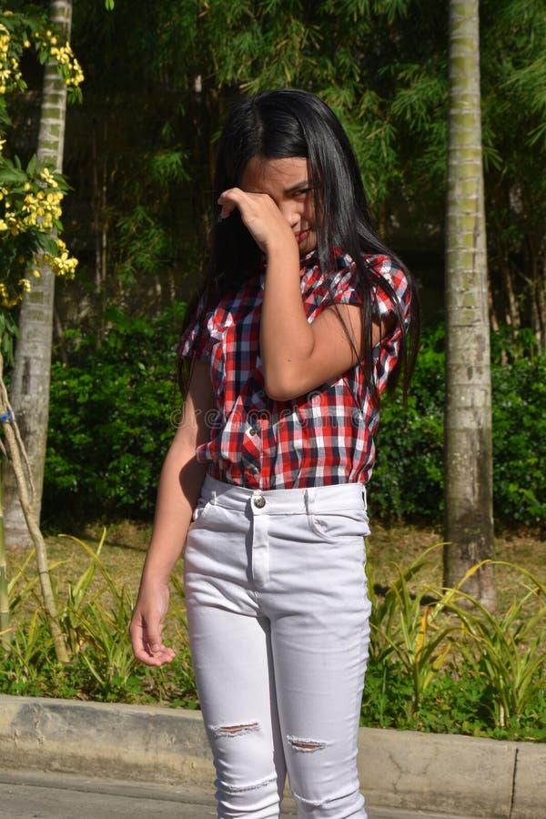 Filipina Girl Crying joven fotos de archivo libres de regalías