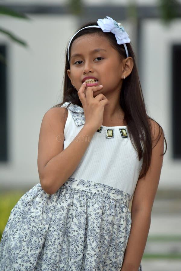 Filipina Girl Deciding fotografía de archivo