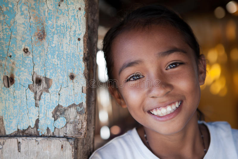 Filipina Girl Portrait royalty free stock photos
