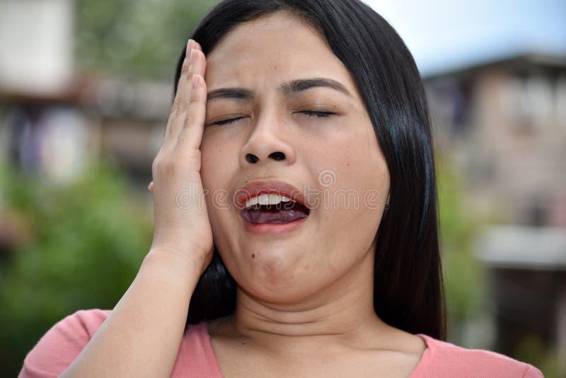 Filipina Person grazioso sonnolento fotografia stock