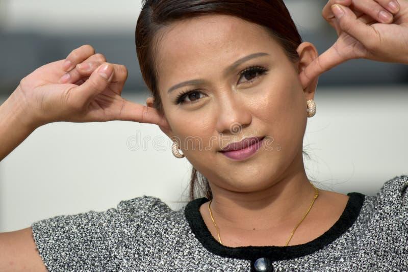 Filipina Person joven reservado imagenes de archivo