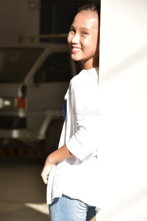 Filipina Youngster jovem feliz fotos de stock
