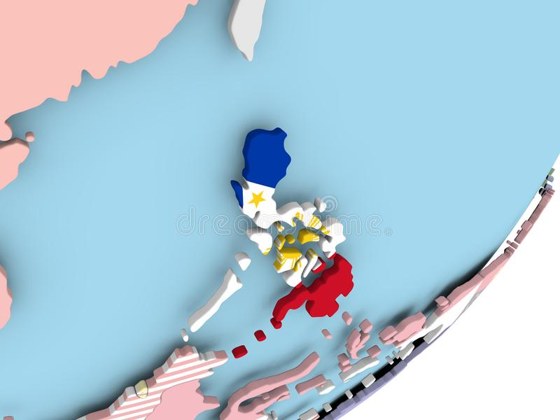 Filipinas con la bandera ilustración del vector