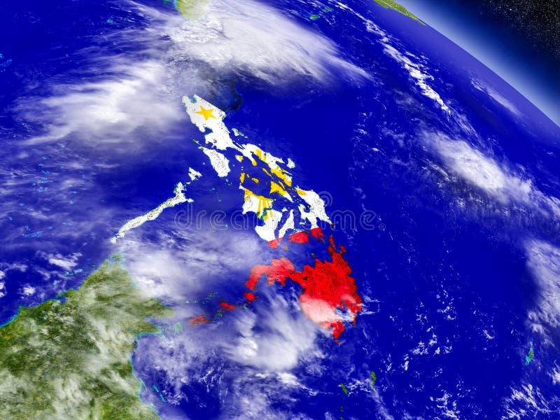 Filipinas con la bandera integrada en la tierra libre illustration