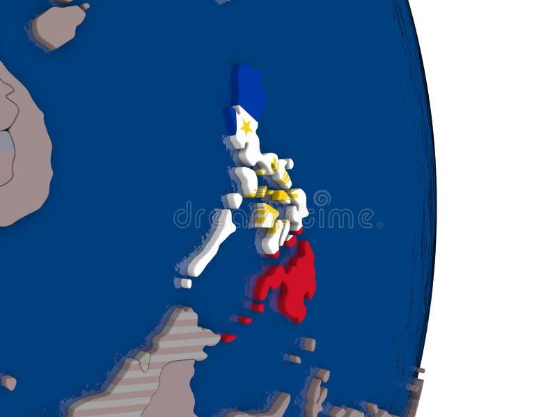 Filipinas con su bandera libre illustration