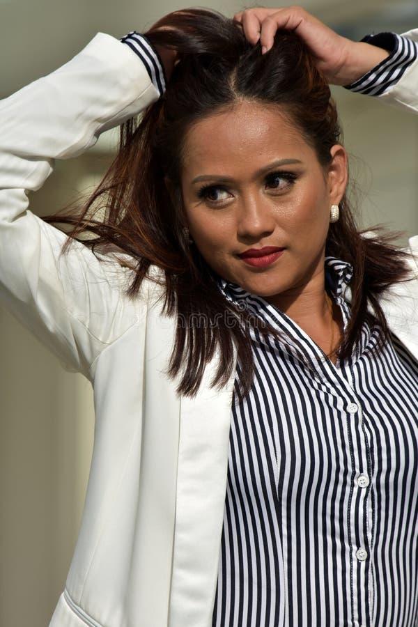 Filipinka Biznesowa kobieta Pod stresem zdjęcia stock