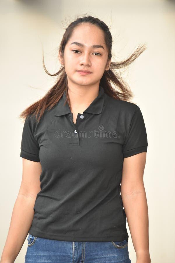 Filipinka Nastoletnia kobieta Z Długie Włosy fotografia royalty free