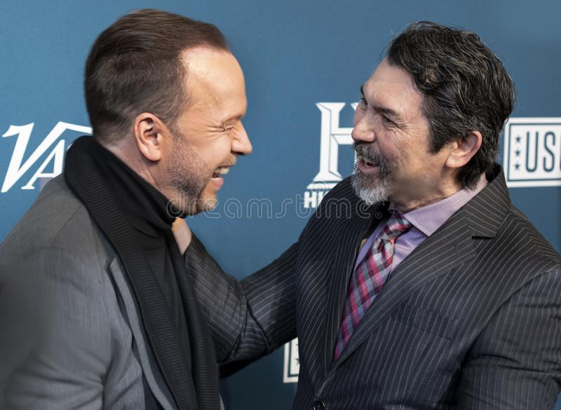 Donnie Wahlberg & Lou Diamond Phillips at Variety 3rd Annual Salute to Service Event royalty free stock photos