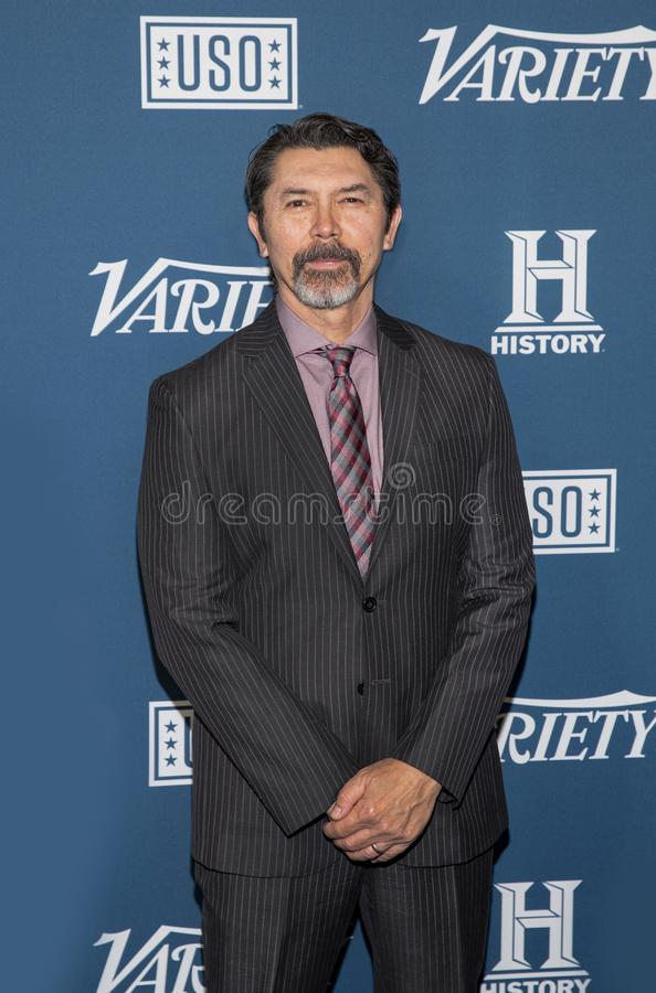 Lou Diamond Phillips at the Variety 3rd Annual Salute to Service royalty free stock photos