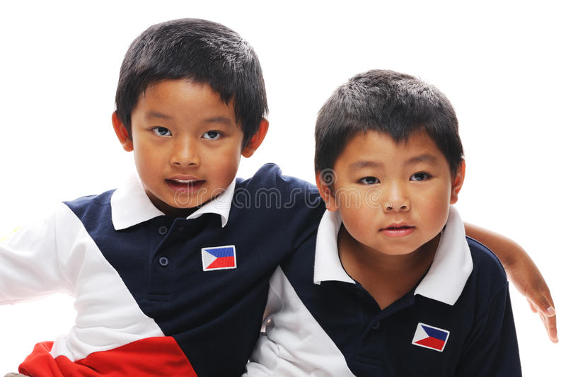 Filipino Brothers. Asian brothers from the philippines royalty free stock photography