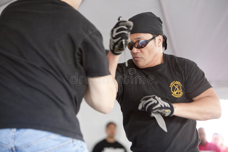 Filipino Martial Arts Demonstration Editorial Photo