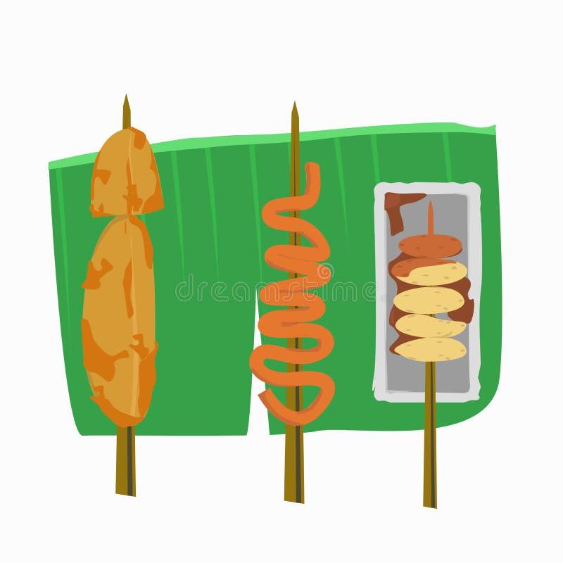 Filipino street foods vector illustration