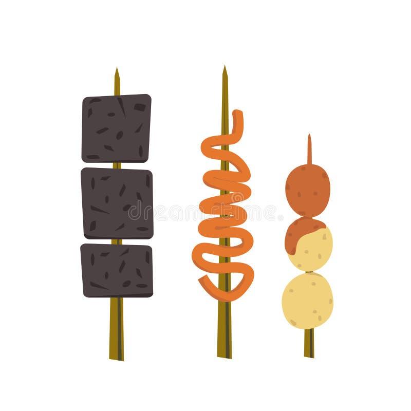 Filipino street foods stock illustration