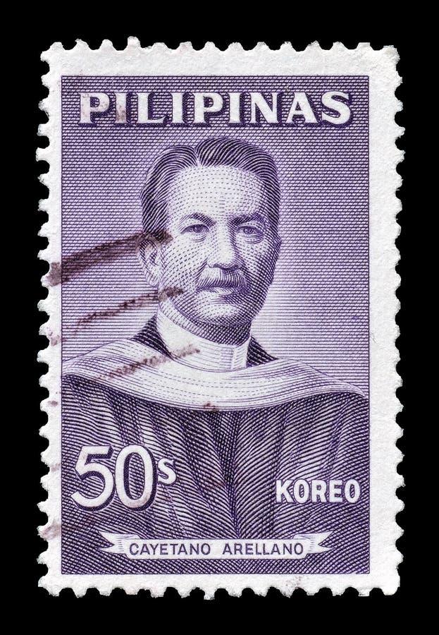 Filipiny na znaczkach pocztowych zdjęcia royalty free