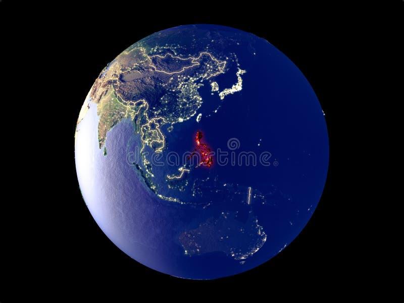Filippijnen ter wereld van ruimte royalty-vrije illustratie