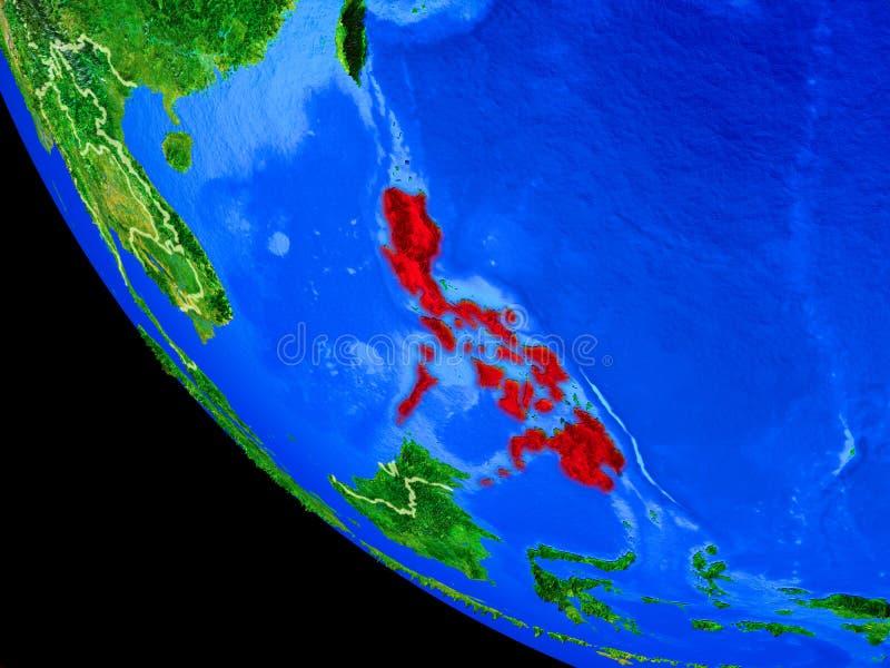 Filippijnen ter wereld van ruimte stock illustratie