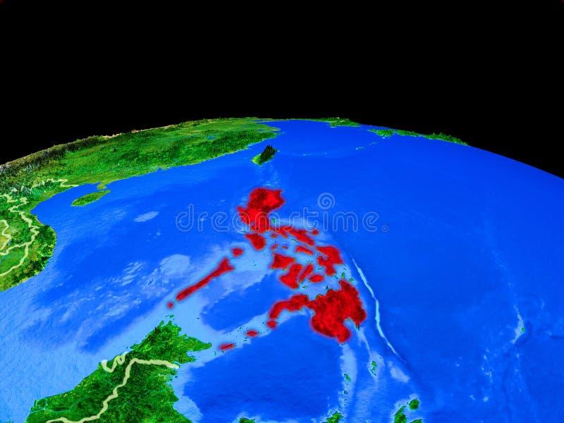 Filippijnen van ruimte ter wereld royalty-vrije illustratie