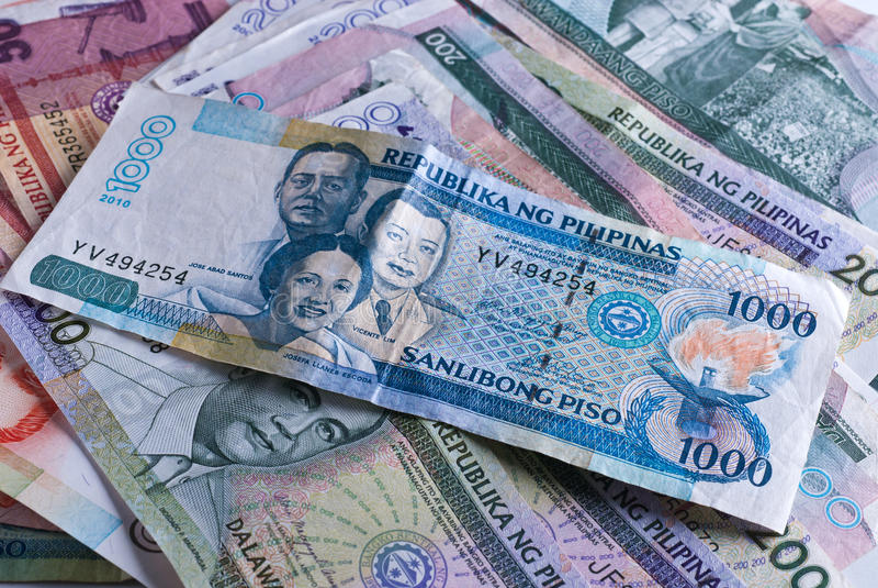 Filippijnse Bankbiljetten stock foto's