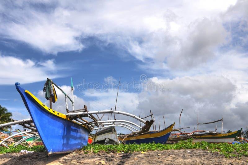 Filippijnse Houten Vissersboten stock afbeeldingen