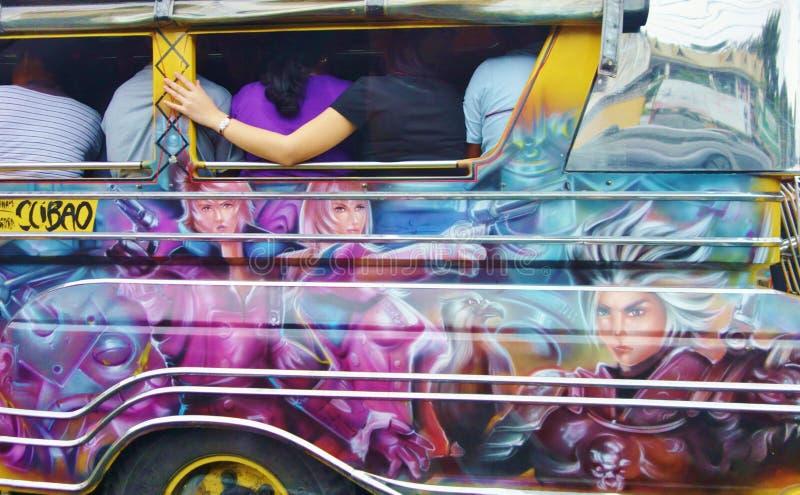 Filippijnse Jeepney (2) stock foto's