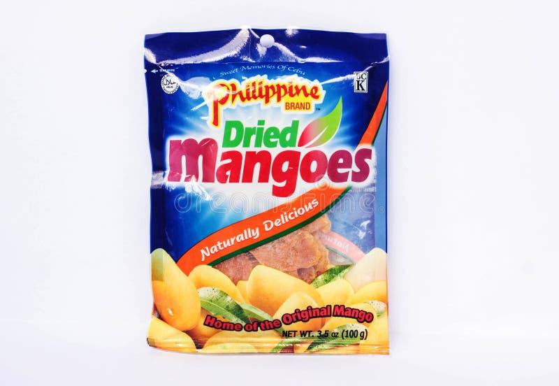 Filippijnse Merk Droge Mango's stock fotografie