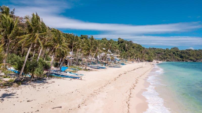 Filippinerna tropiska Paradise för IligIligan strandBoracay ö arkivbild