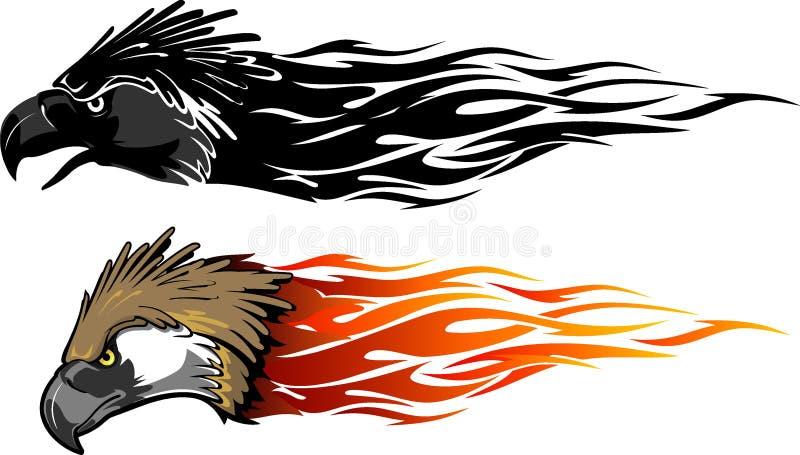 Filippinska Eagle Flames Set vektor illustrationer