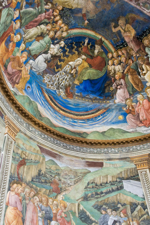 Download Filippo Lippi Painting In Spoleto Cathedral Stock Image - Image of city, bell: 15341935