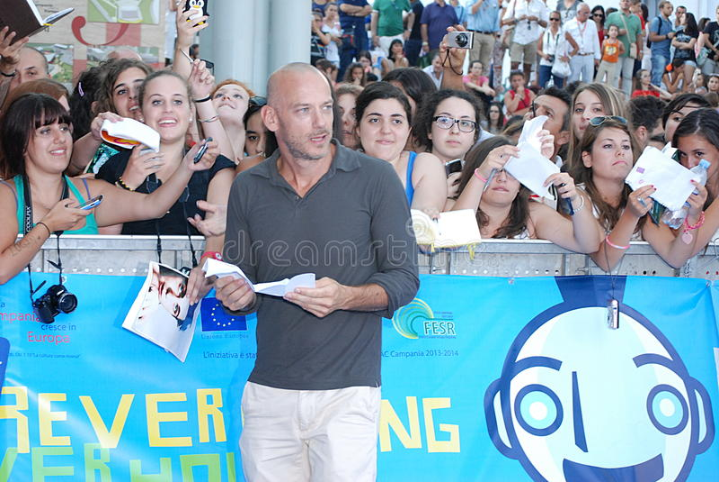 Filippo Nigro al Giffoni Ekranowy festiwal 2013 obraz royalty free