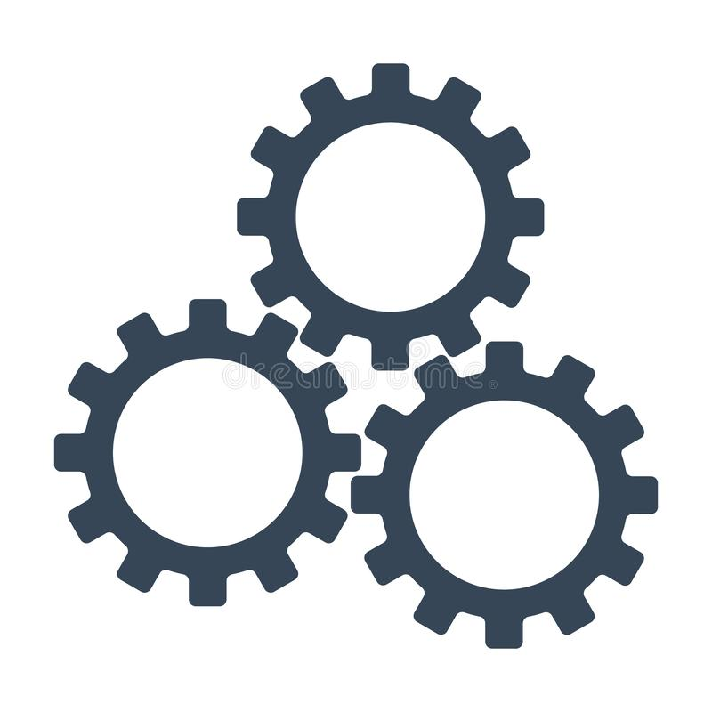 Fill Gear Icon. Teamwork symbol. Flat style. Vector illustration isolated on white background. vector illustration
