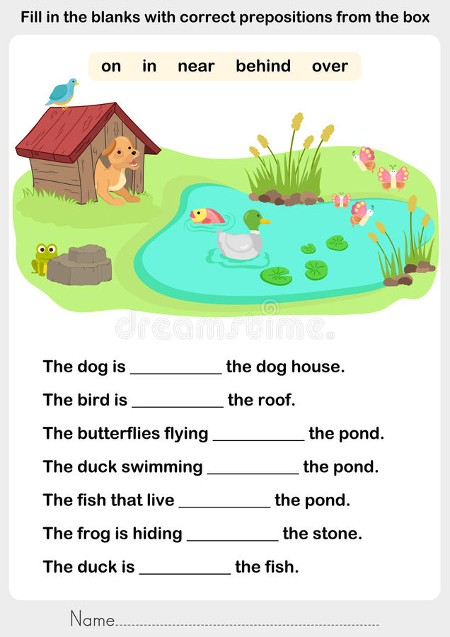 Free Fill In The Blanks With Correct Prepositions Stock Image - 80267451