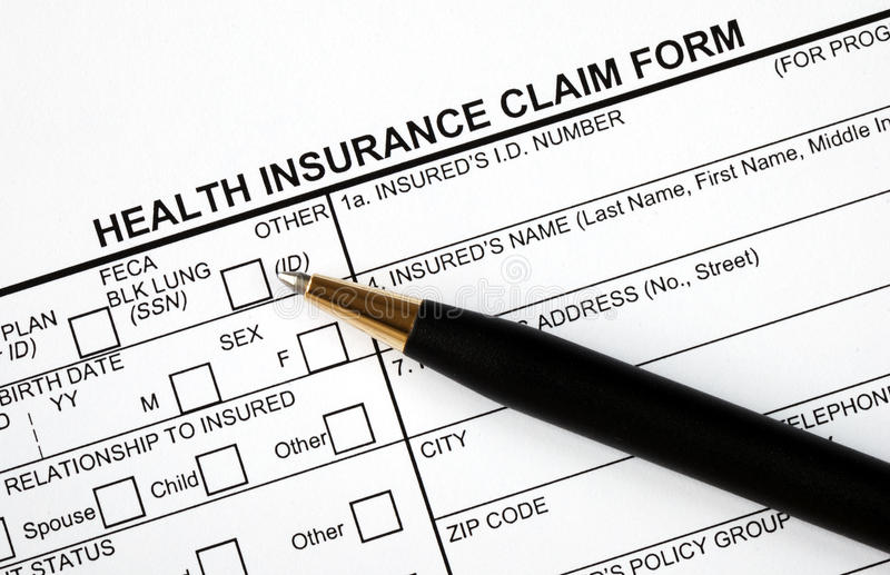 Fill in the medical claim form royalty free stock image