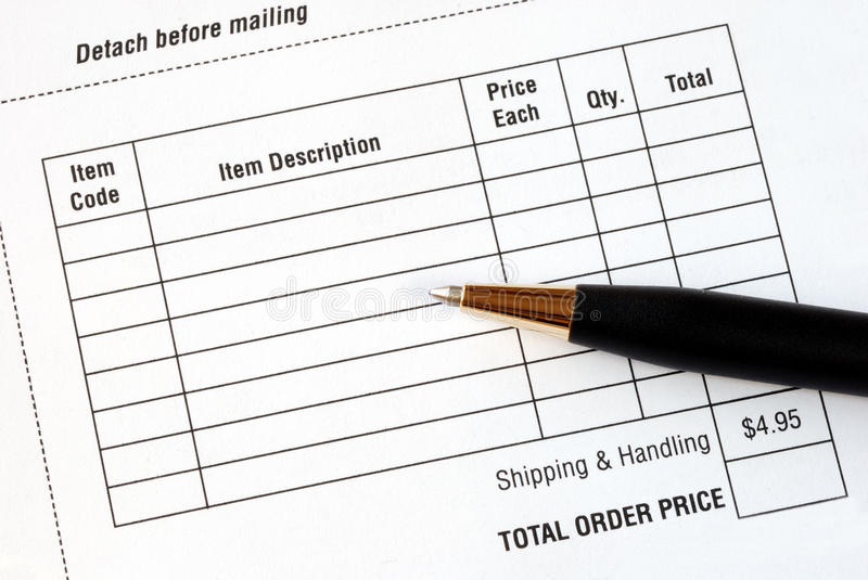 Fill In An Order Form Stock Photography - Image: 14841712
