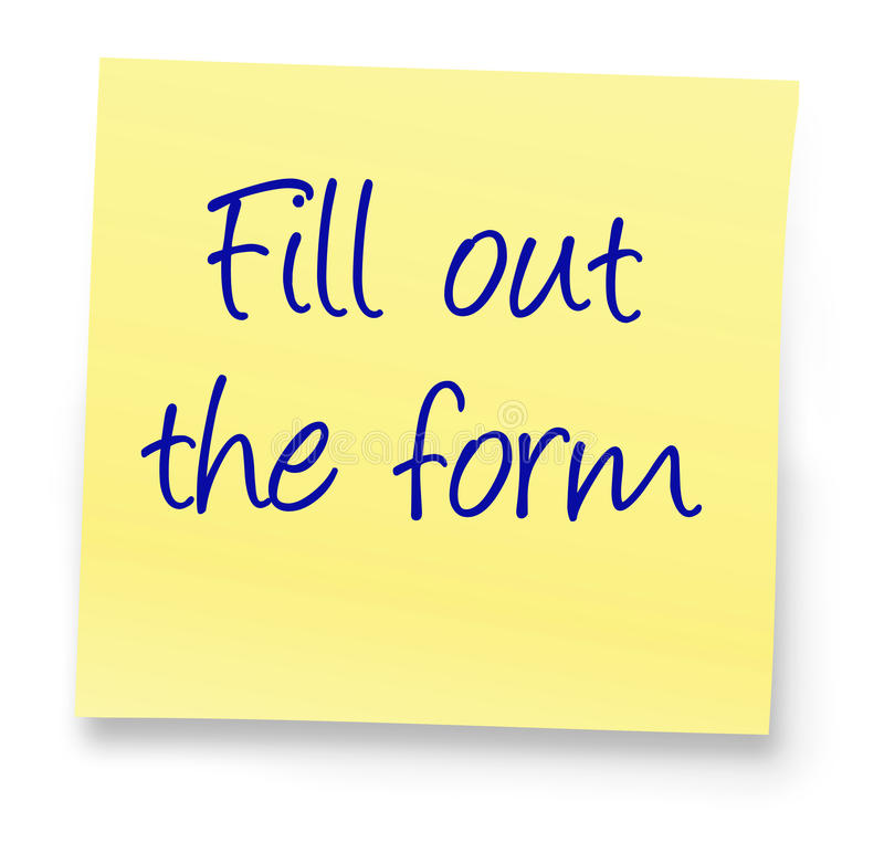 Download Fill out the form stock photo. Image of paper, memo, notepad - 20821568