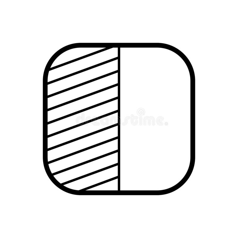 Black line icon for Fill pattern, transparent and background. Black line icon for Fill pattern , transparent, fill, miscellaneous and background royalty free illustration