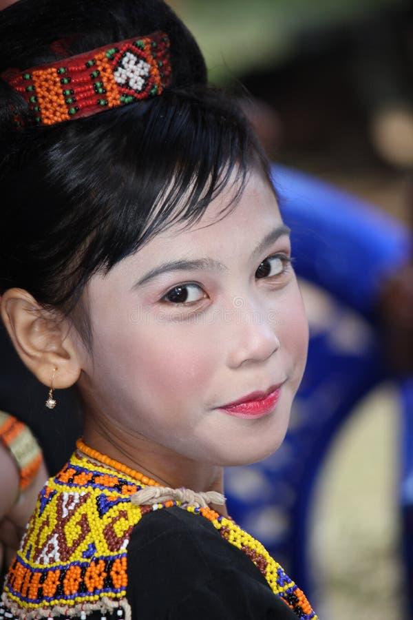Fille à la cérémonie funèbre de Toraja photos stock