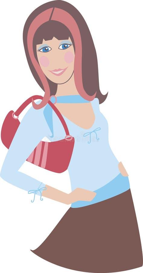 Fille 1 de Brunette illustration de vecteur