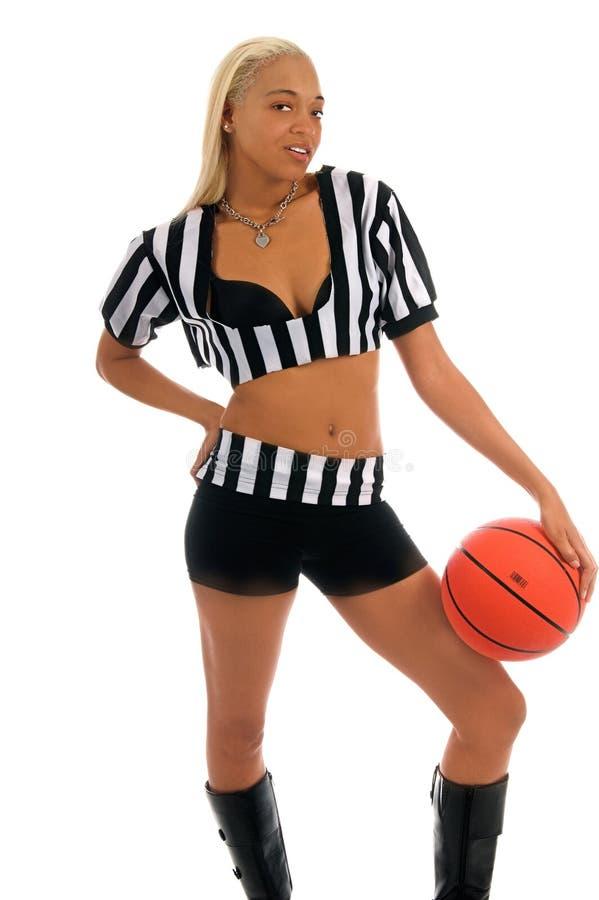 Fille active de basket-ball photographie stock