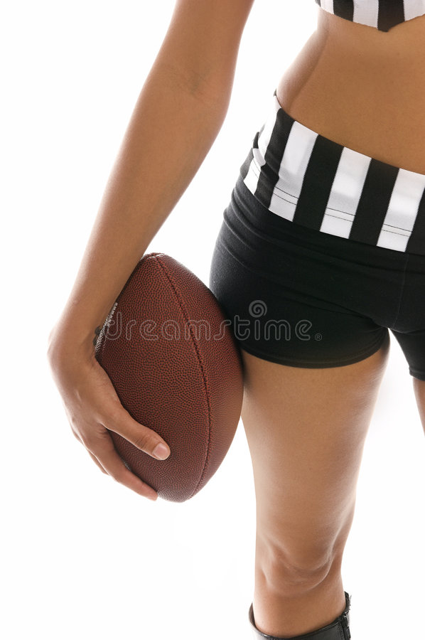 Fille active du football photo stock