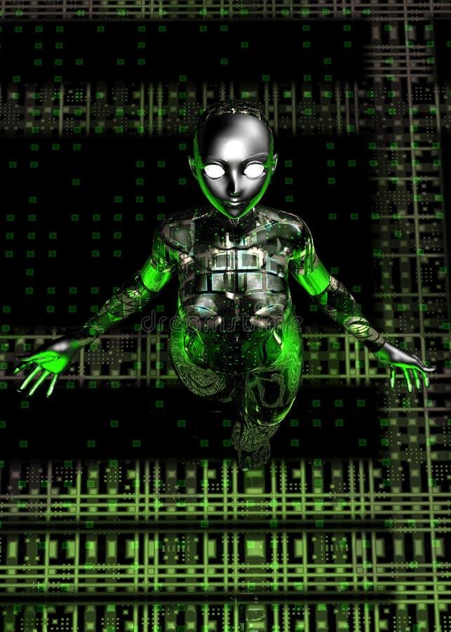 Fille androïde illustration de vecteur