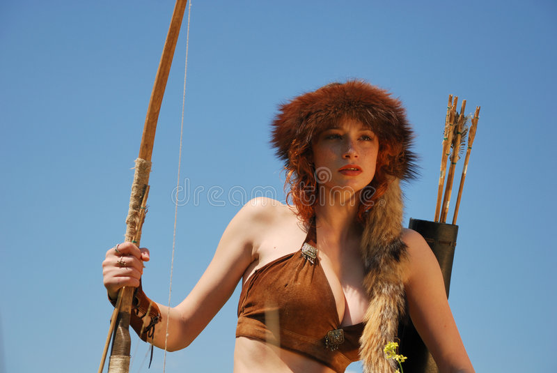 Fille-archer photographie stock