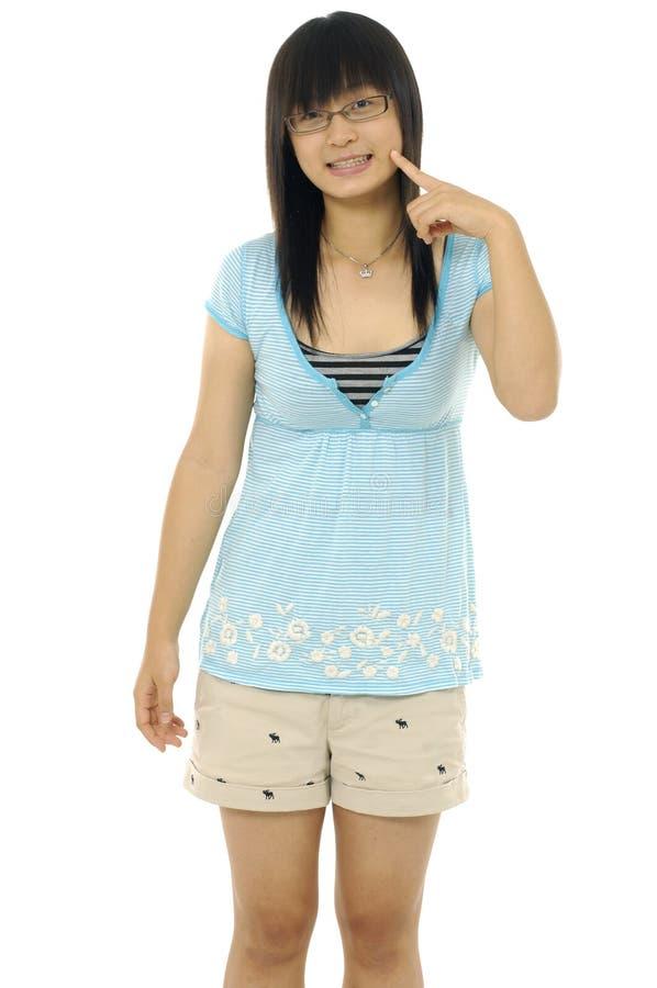 Download Fille asiatique photo stock. Image du haut, attitude, assez - 8671164