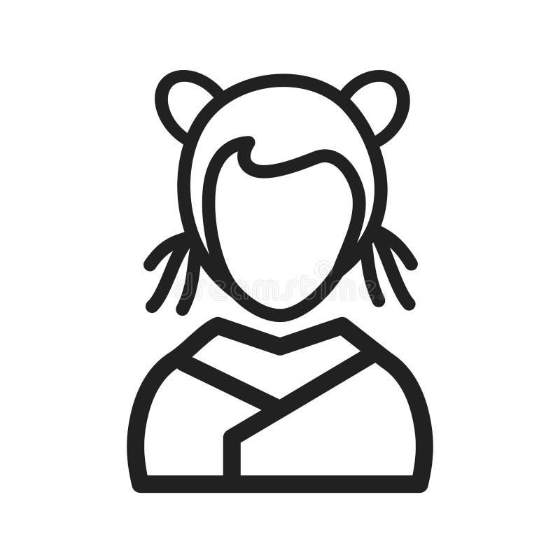 Fille asiatique illustration libre de droits