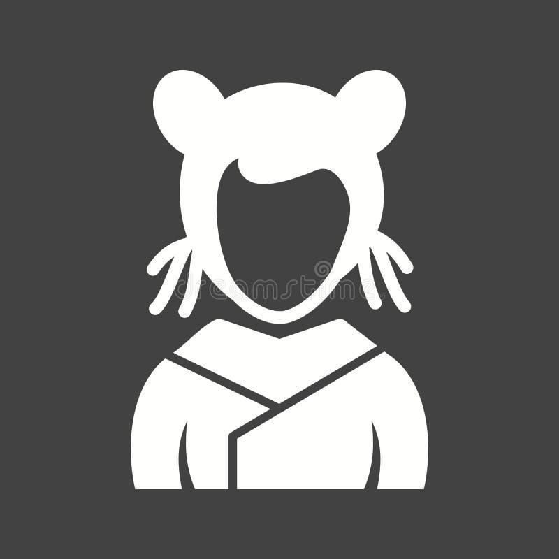 Fille asiatique illustration de vecteur