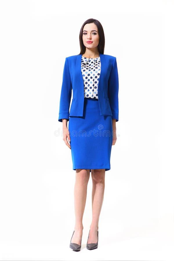 Fille asiatique de mannequin dans des vêtements officiels images stock