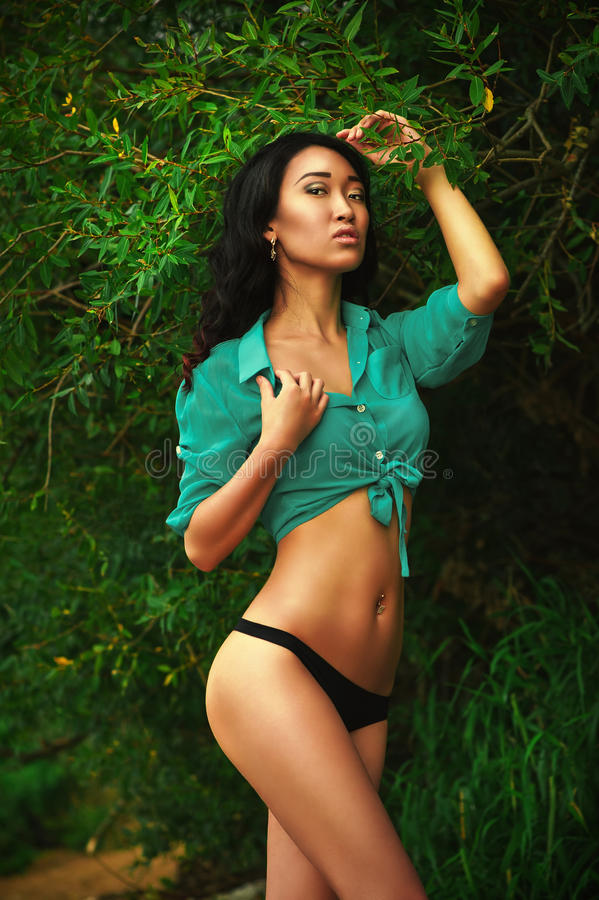 Fille asiatique sexy photographie stock