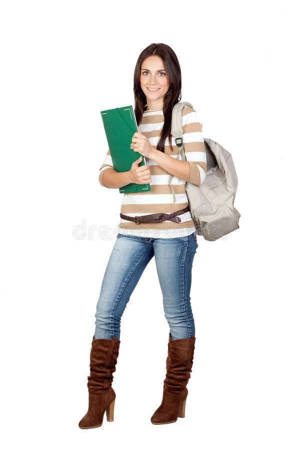 Fille attirante d'étudiant images stock