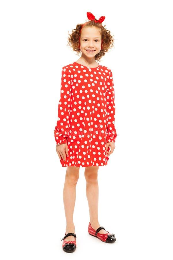 Robe pois rouge fille