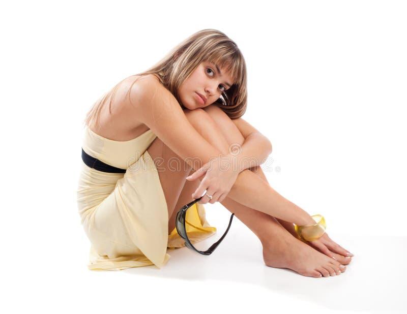 Fille aux pieds nus photographie stock libre de droits